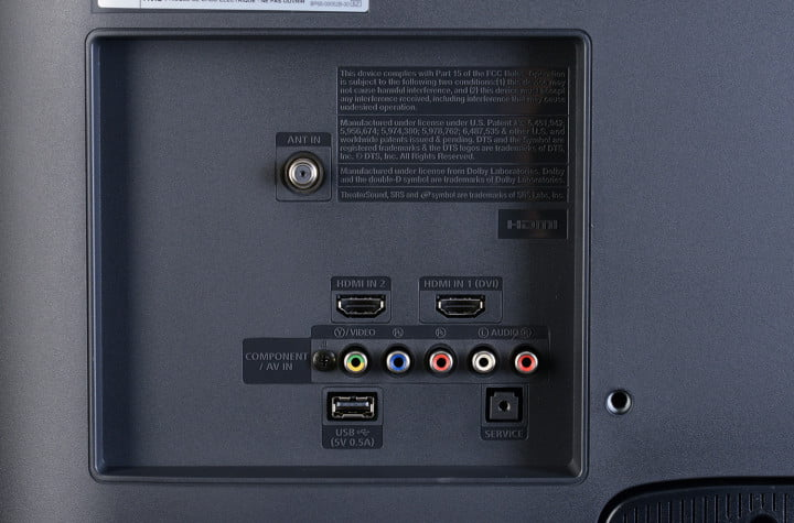 samsung un  eh review inch tv rear ports macro