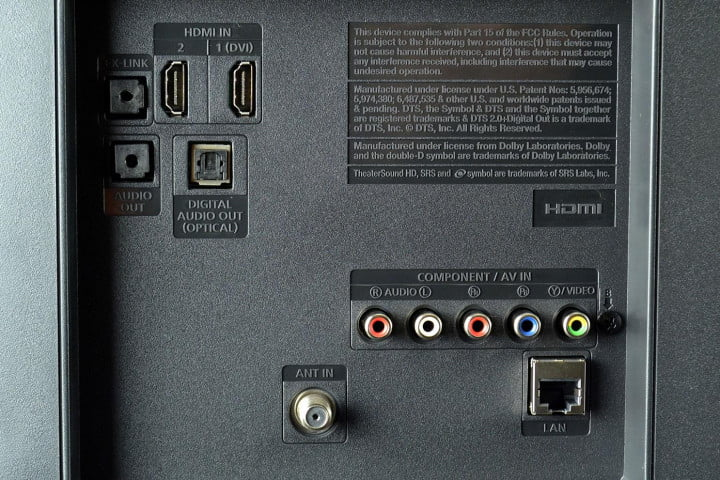 samsung un  fh review f led tv back input