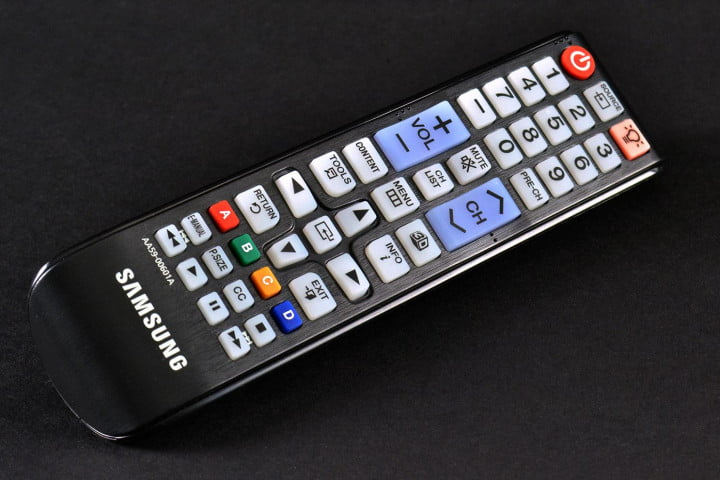 samsung un  fh review f led tv remote angle