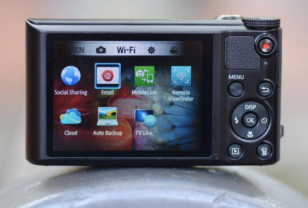 samsung wb150 review rear display point and shoot wifi camera