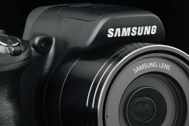 samsung wb  f review top lens angle