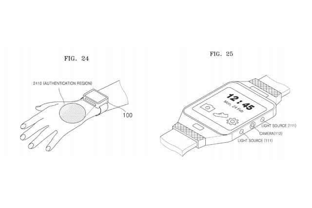 samsung patents vein identification sensor on smartwatches to trigger payments playlists wearble