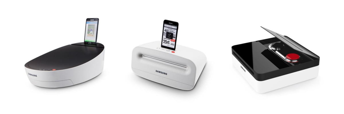 samsung debuts concept printers with built in smartphone dock at  ifa
