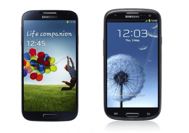 Galaxy S4 vs Galaxy S3 lock screen