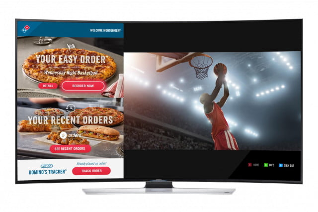 order pizza on your smart tv with the new app from dominos samsung smarttv still  x
