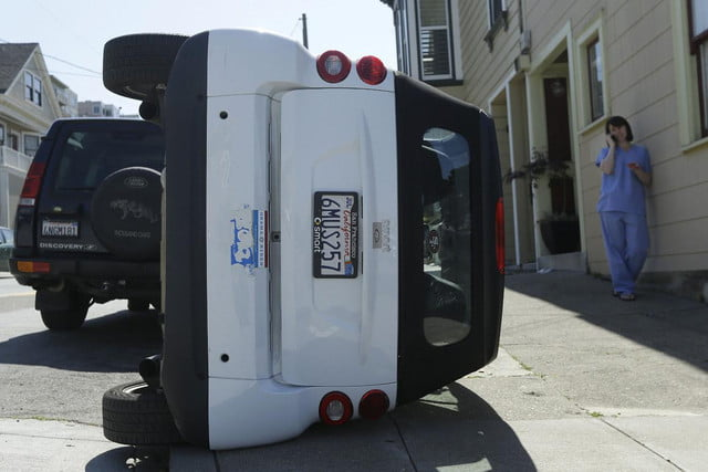 high tech cow tipping police search vandals smart cars san fran car