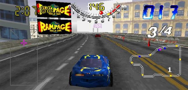 san francisco rush screenshot racing game nintendo 64 playstation 1
