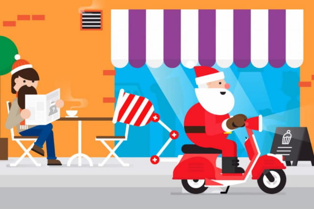 santa tracker google microsoft roll rival offerings