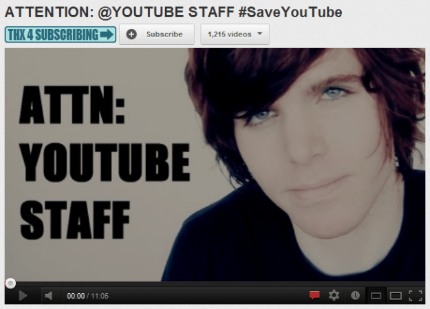 saveyoutube campaign