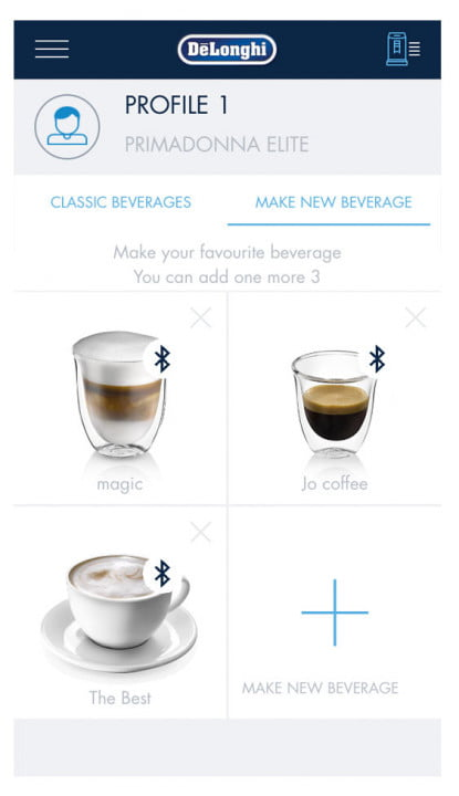 the delonghi primadonna elite is an app controlled coffee maker schermate