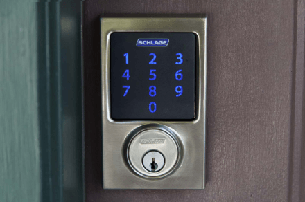 Schlage-Connect-BE469NX-door