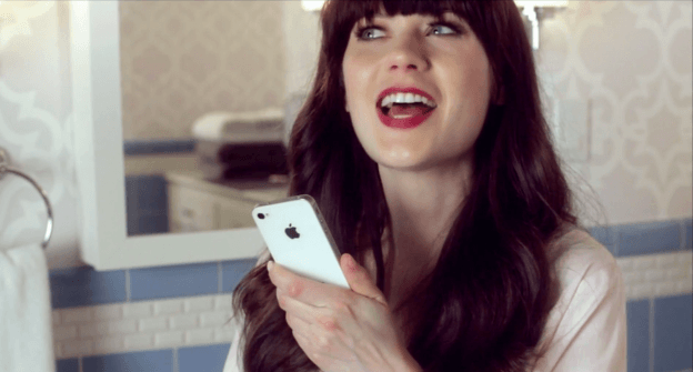 Zooey Deschanel Siri Commercial