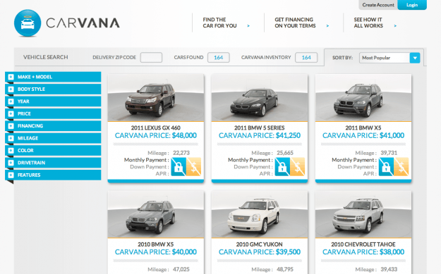 Carvana Website