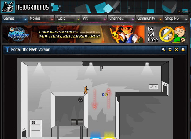 Newgrounds screenshot