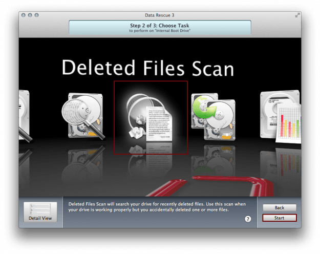 Deleted Files Scan Data Rescue 3