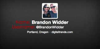 Brandon Widder Twitter Name