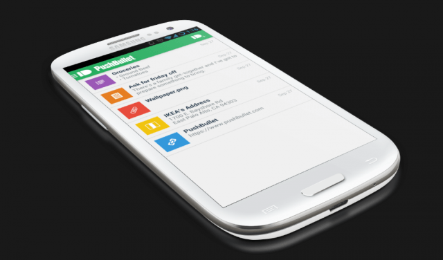 pushbullet app hands on screen shot  at pm