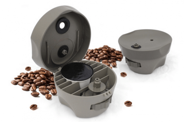 clever adapter will transform coffee machine single serving k cup brewer screen shot  at pm