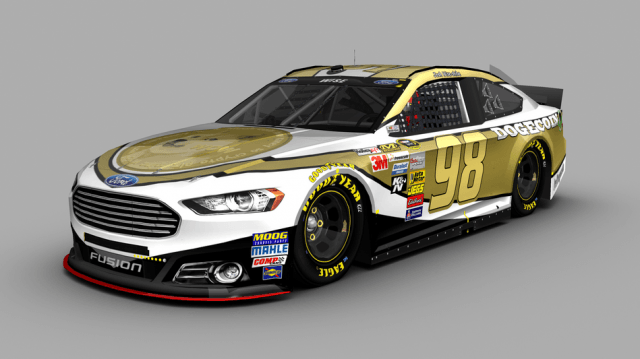 official dogecoin sponsoring nascar driver screen shot  at pm