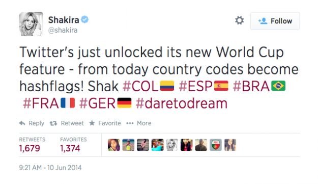 Shakira World Cup Hashflag