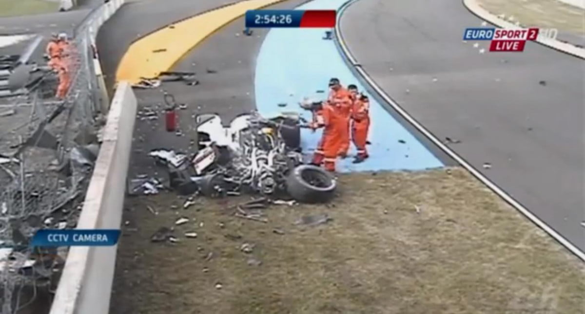 le mans qualifying put on hold after major audi crash loic duval during  practice