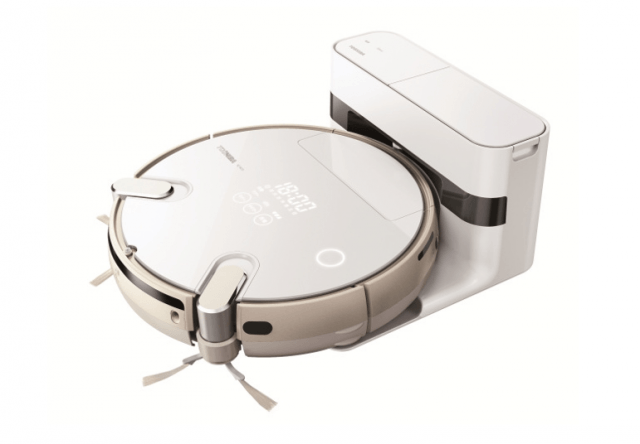 toshiba robotic vacuum self emptying bin screen shot  at pm