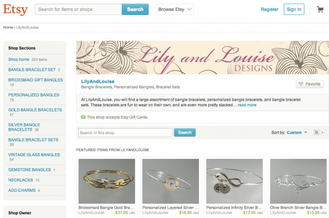 Lily and Louise Designs, powered by Etsy.