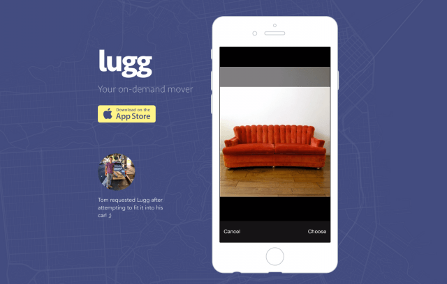 lugg app uber for moving screen shot  at am