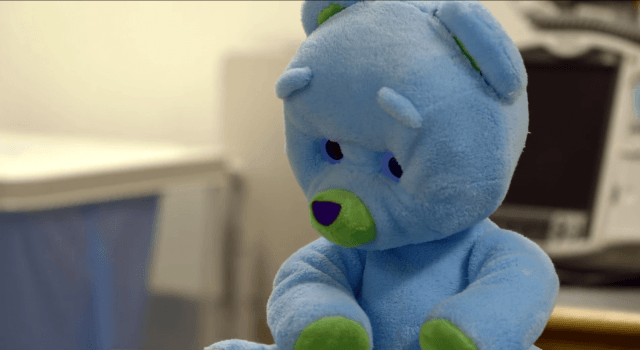 huggable the robotic teddy bear for sick children is now in boston childrens hospital screen shot  at pm