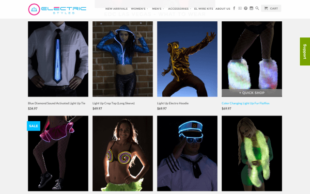 electric styles wants everyone to be able enjoy the fun that comes with light up clothing screen shot  at pm