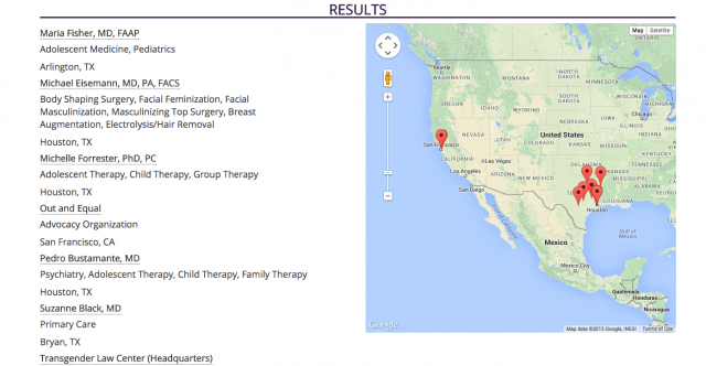 rad is the new database that makes transgender healthcare much easier to find screen shot  at pm
