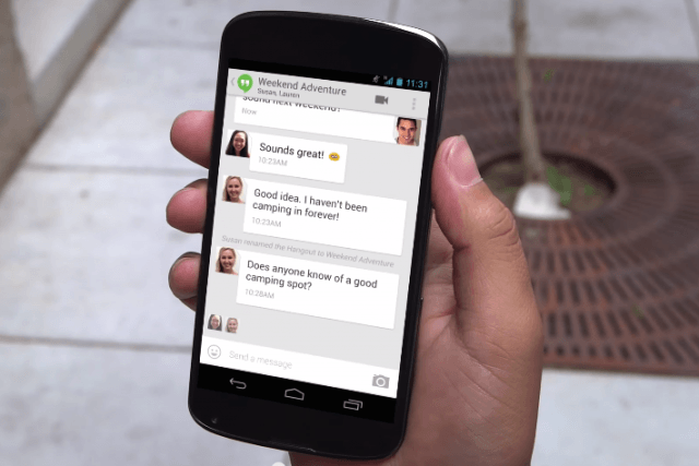 hangouts loses sms support google