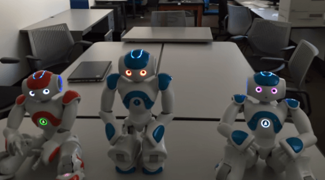 cute or creepy this little robot just passed a self awareness test screen shot  at pm