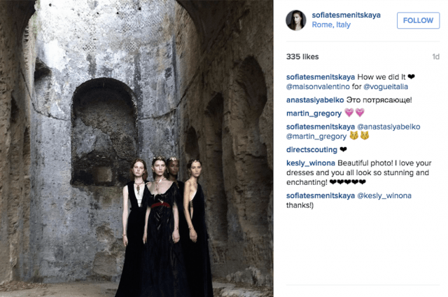 instagram predict fashion model success screen shot  at am