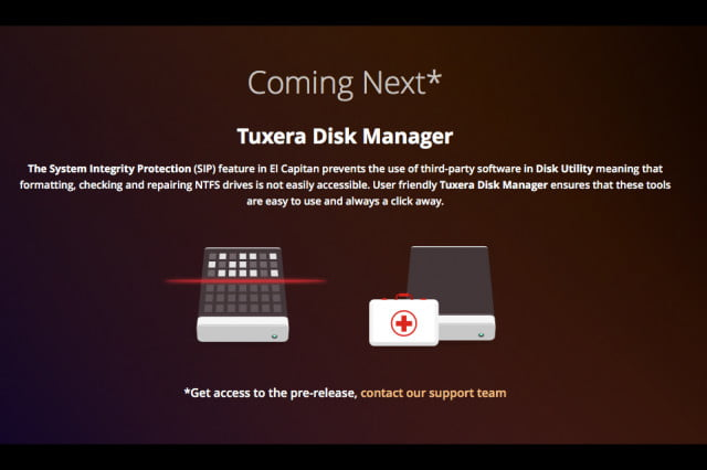 tuxera disk manager works around el capitan to format drives that work with windows screen shot  at pm