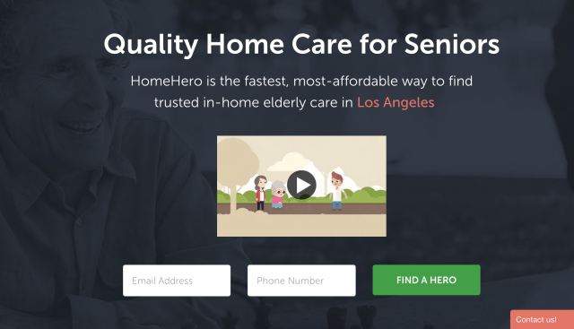homehero best care for your grandparents screen shot  at pm