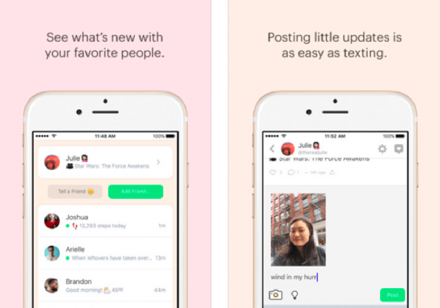 messaging app peach launches screen shot  at pm