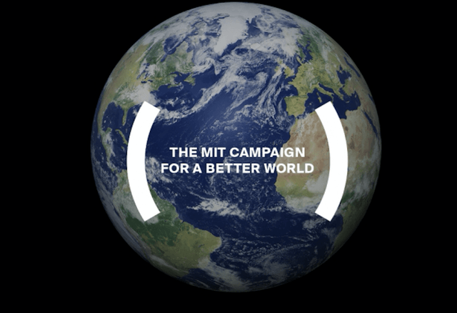 mit campaign for better world five billion dollars screen shot  at pm