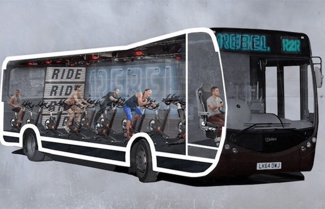 rebel spinning bus london screen shot at pm