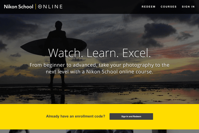 nikon school online launches screen shot  at pm