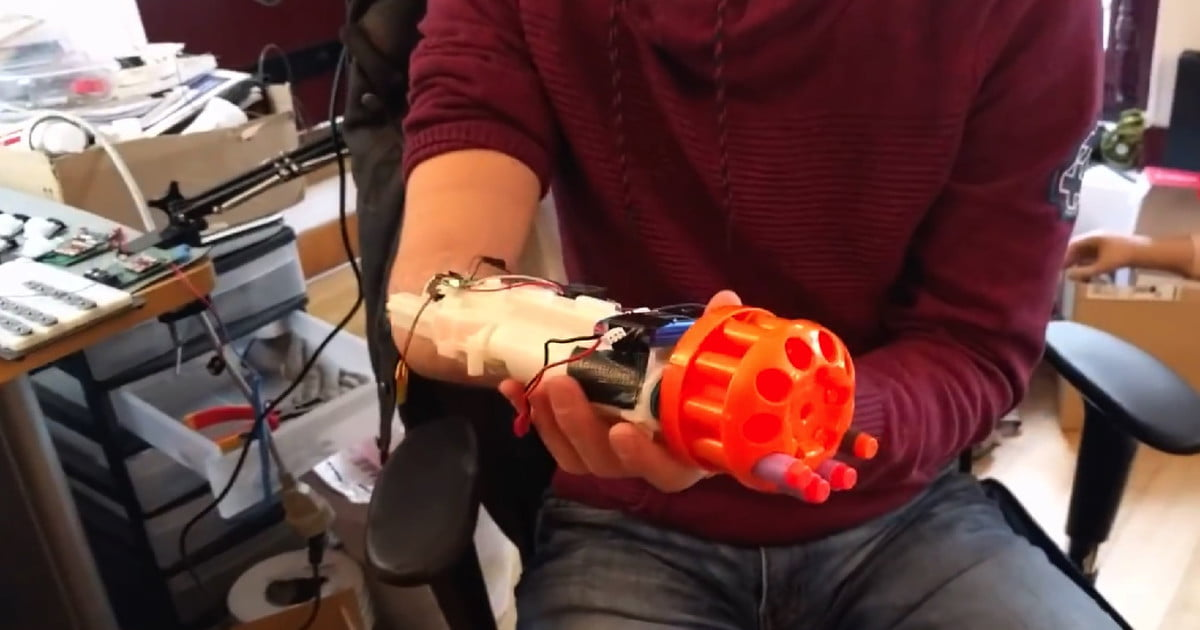 Totally Rad Nerf Gun Prosthetic Makes Hands Look Boring in Comparison
