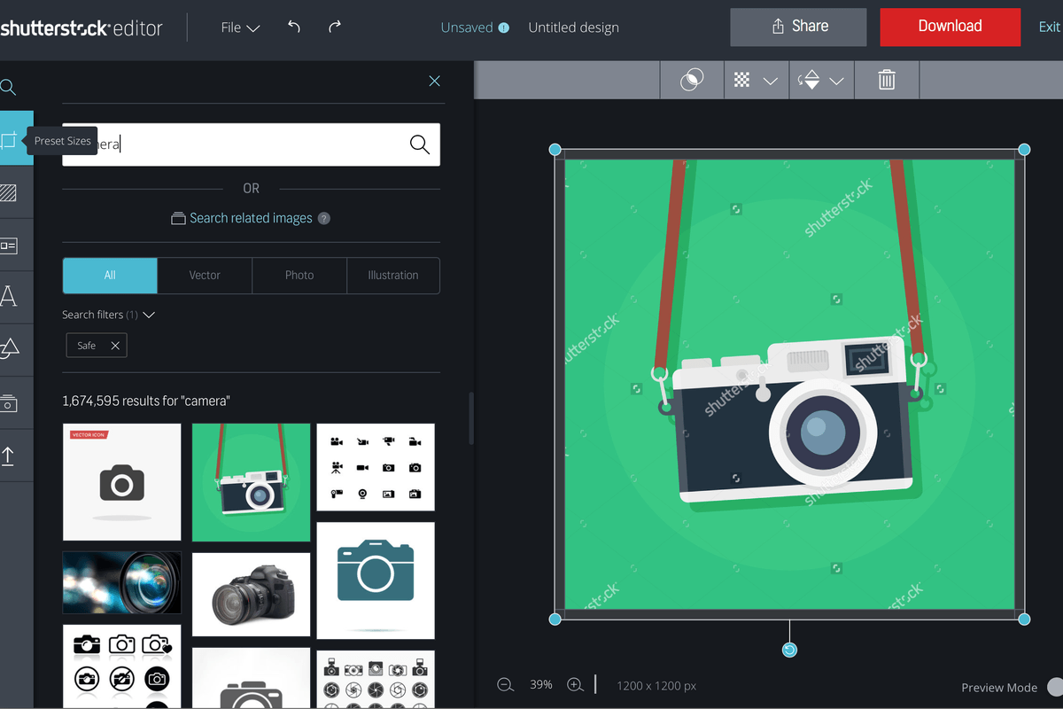 shutterstock introduces editor screen shot  at pm