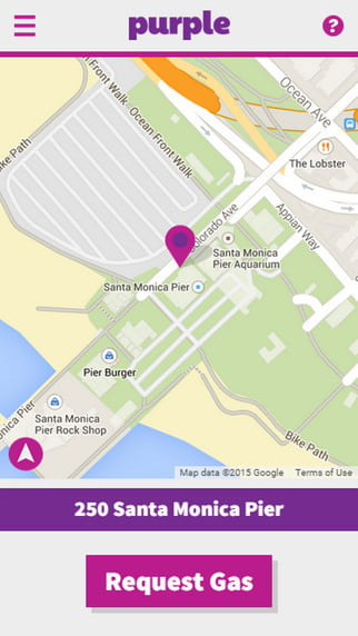 purple smartphone gas delivery service pictures news