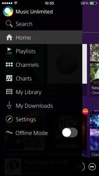 sony music unlimited review its actually quite limited screen  x ( )