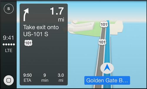 apple carplay hands on screen maps