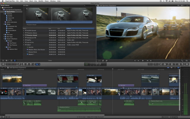screenshot  final cut pro x
