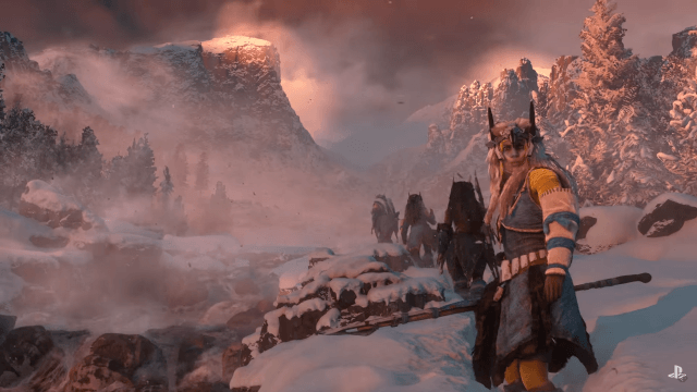 why no multiplayer horizon zero dawn dramatic mountain face