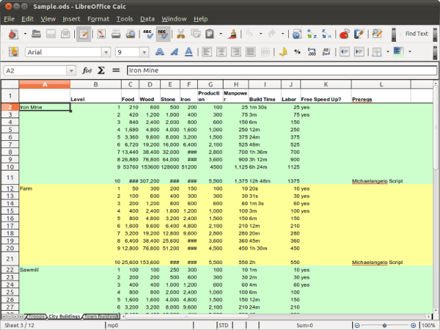 screenshot  libreoffice example