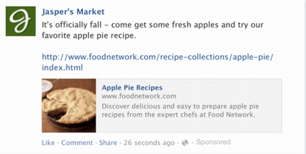 fbx targeted ad news feed