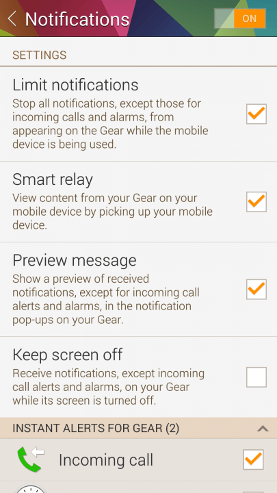 samsung gear  review screenshot
